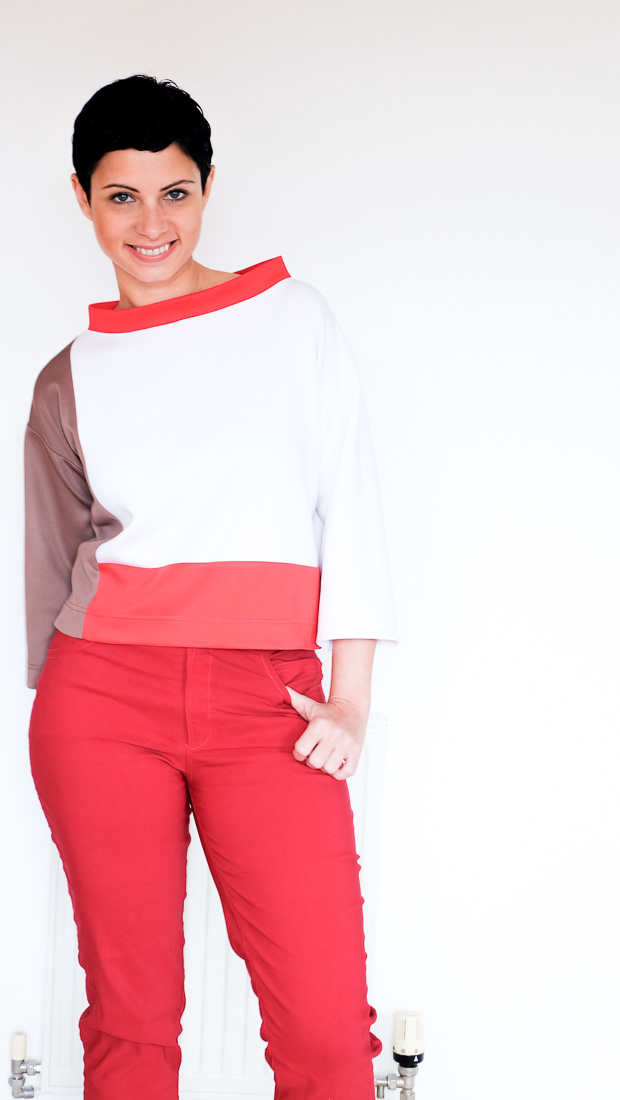 Colour Block Boxy top Burda 08-2017-112-11