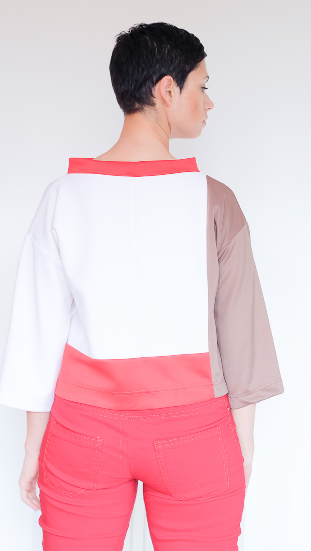 Colour Block Boxy top Burda 08-2017-112-15