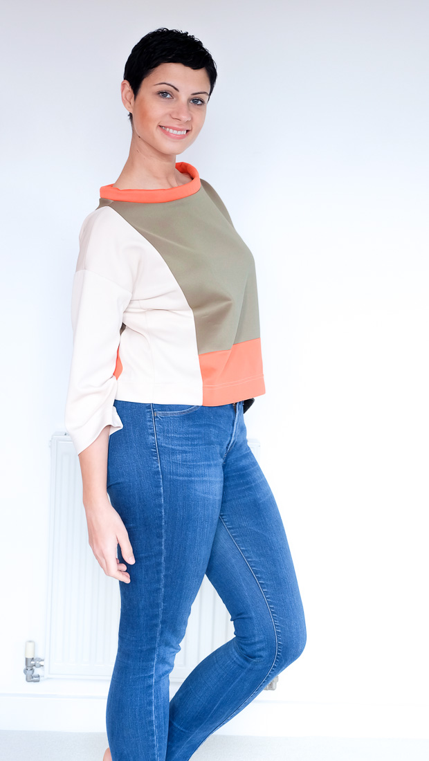 Colour Block Boxy top Burda 08-2017-112-20
