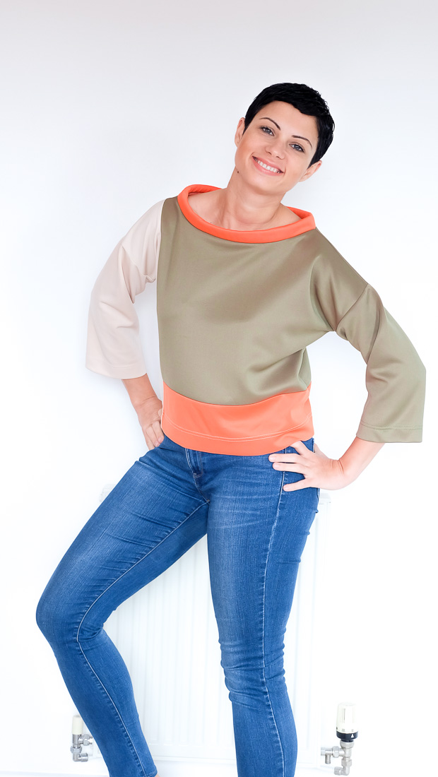 Colour Block Boxy top Burda 08-2017-112-3