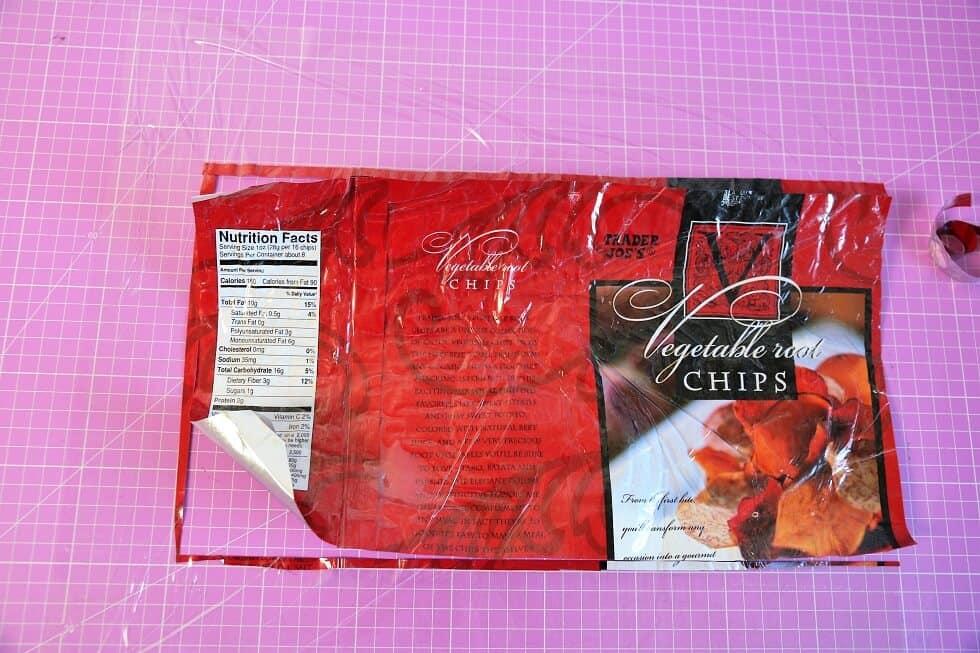 Täschchen aus Chipstüte nähen