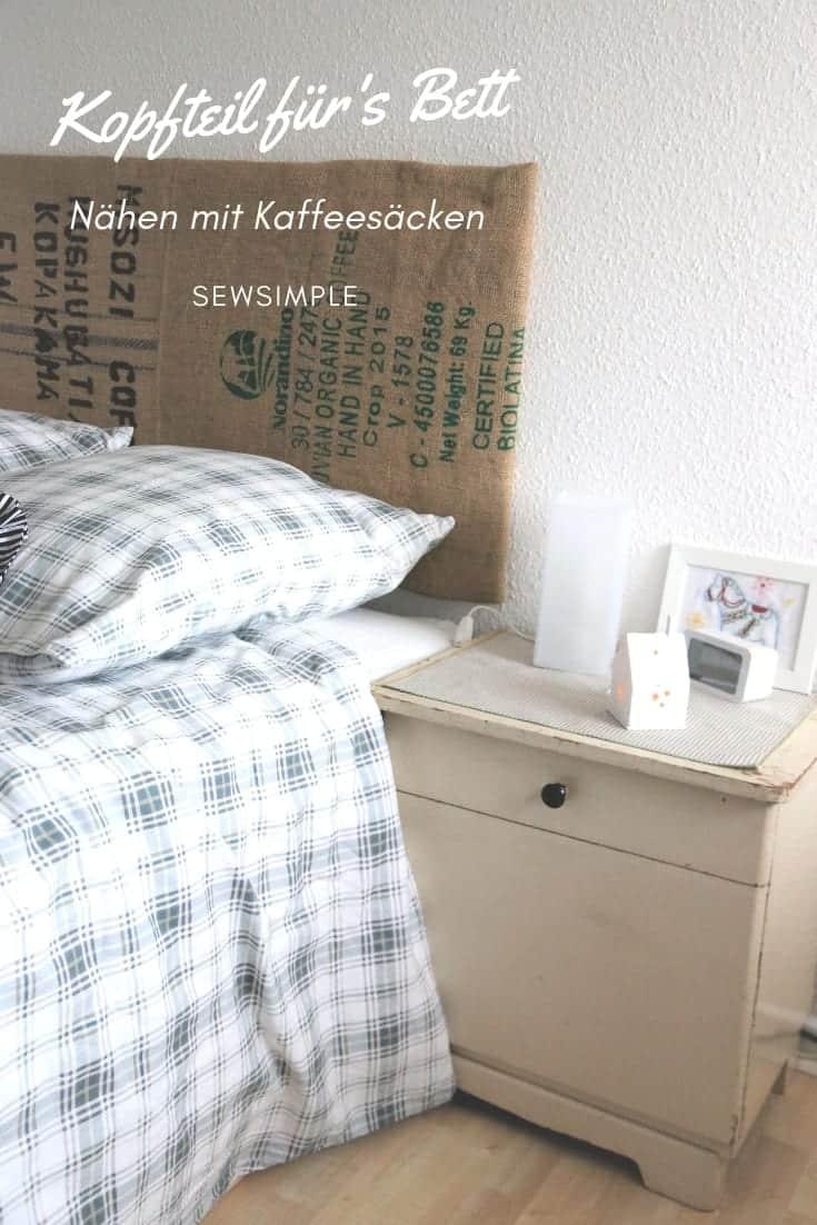 Für's KaffeesackKopfteil Nähen Bett Mit nZOPkNw08X