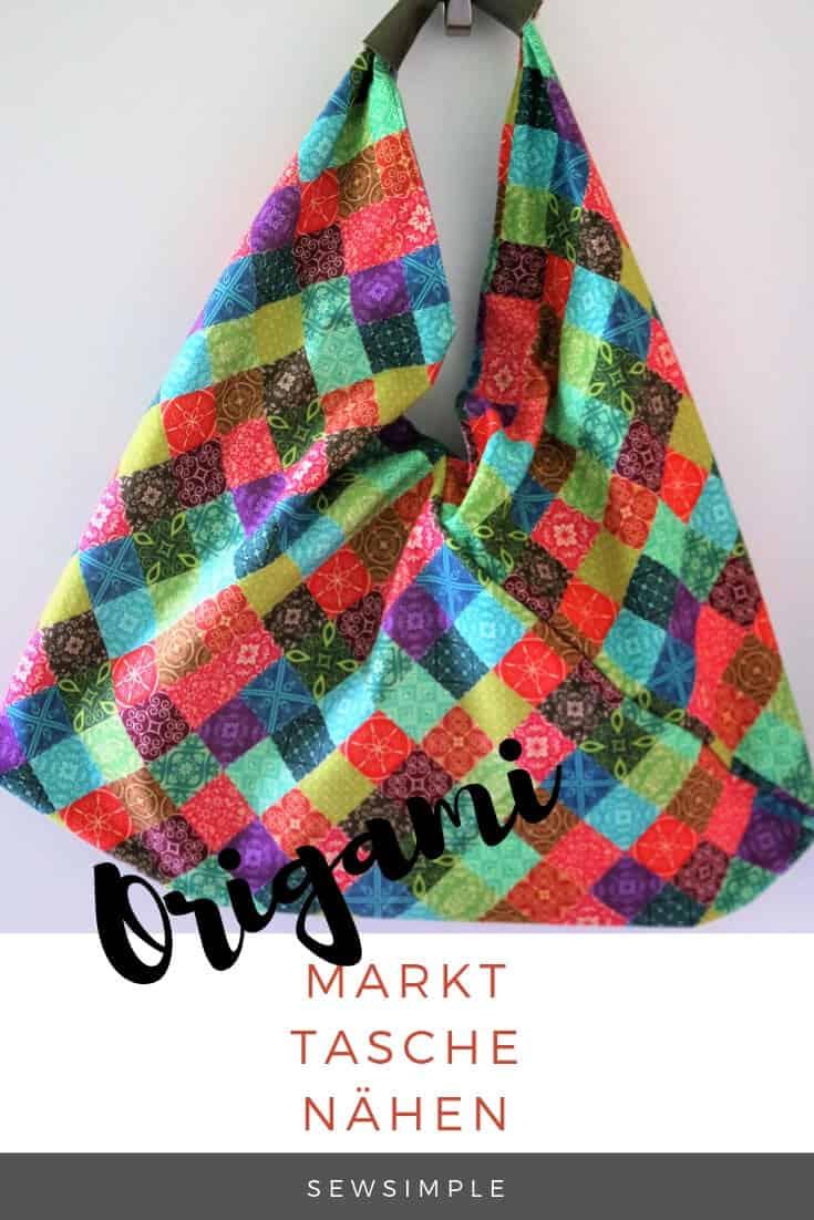 Origami Tasche näh