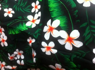 Frangipani print cotton (Perth)