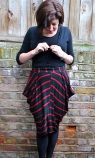 Self-Drafted Cowl Skirt
