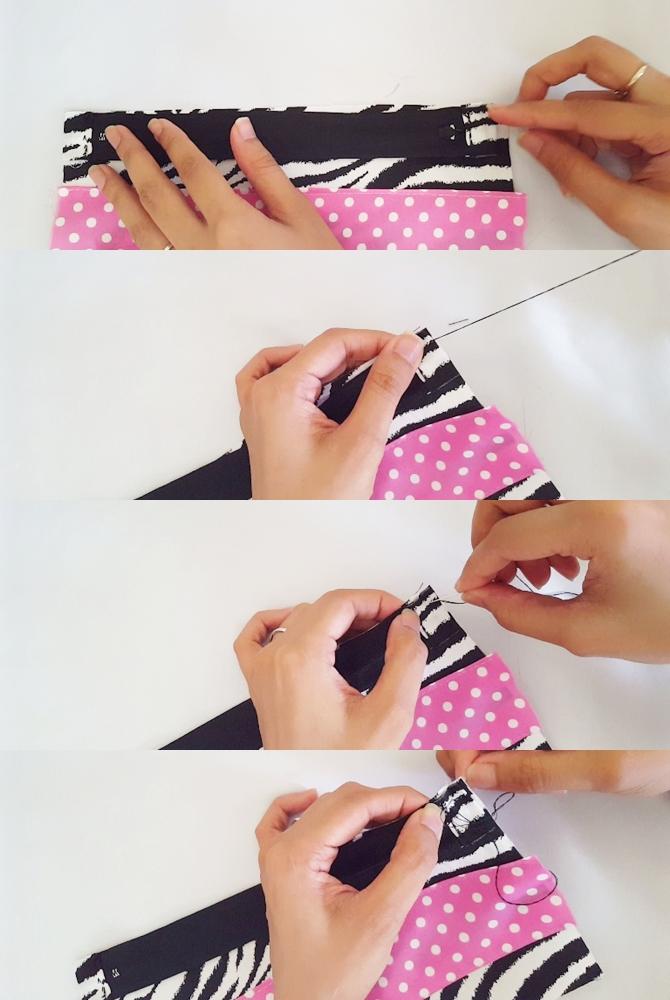 hand sewn pouch tutorial