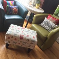 How to sew a custom fit ottoman slipcover