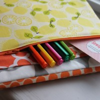 How to sew a three ring binder cover