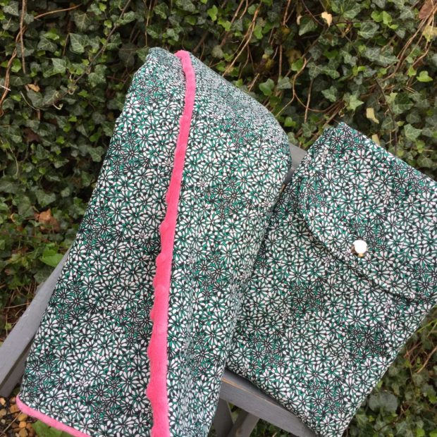 How to sew a diaper clutch and minky dot changing pad by Sewspire