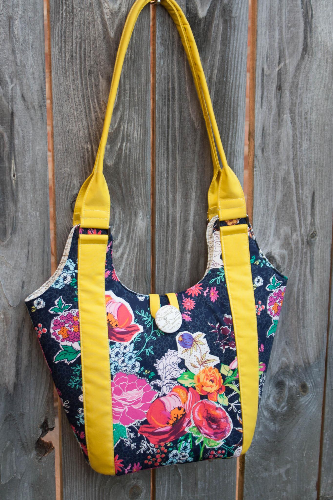 women/'s bag yellow purse anna maria horner bag Zippered shoulder bag zippered purse zippered tote bag women/'s purse floral purse