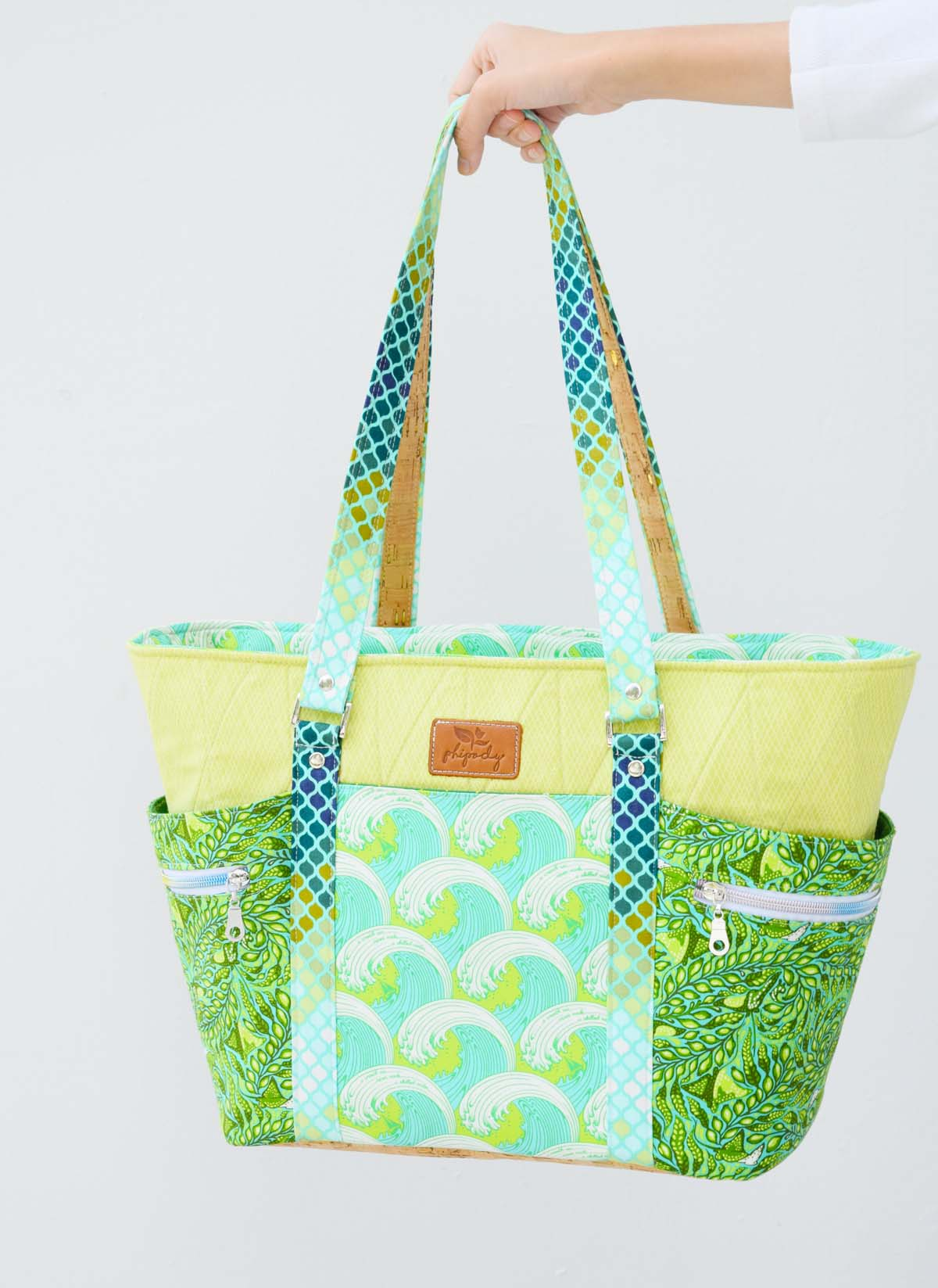 knitting bag carry-all Tote bag Blazing Sun carry-on bag shopping tote hand-sewn tote baby bag