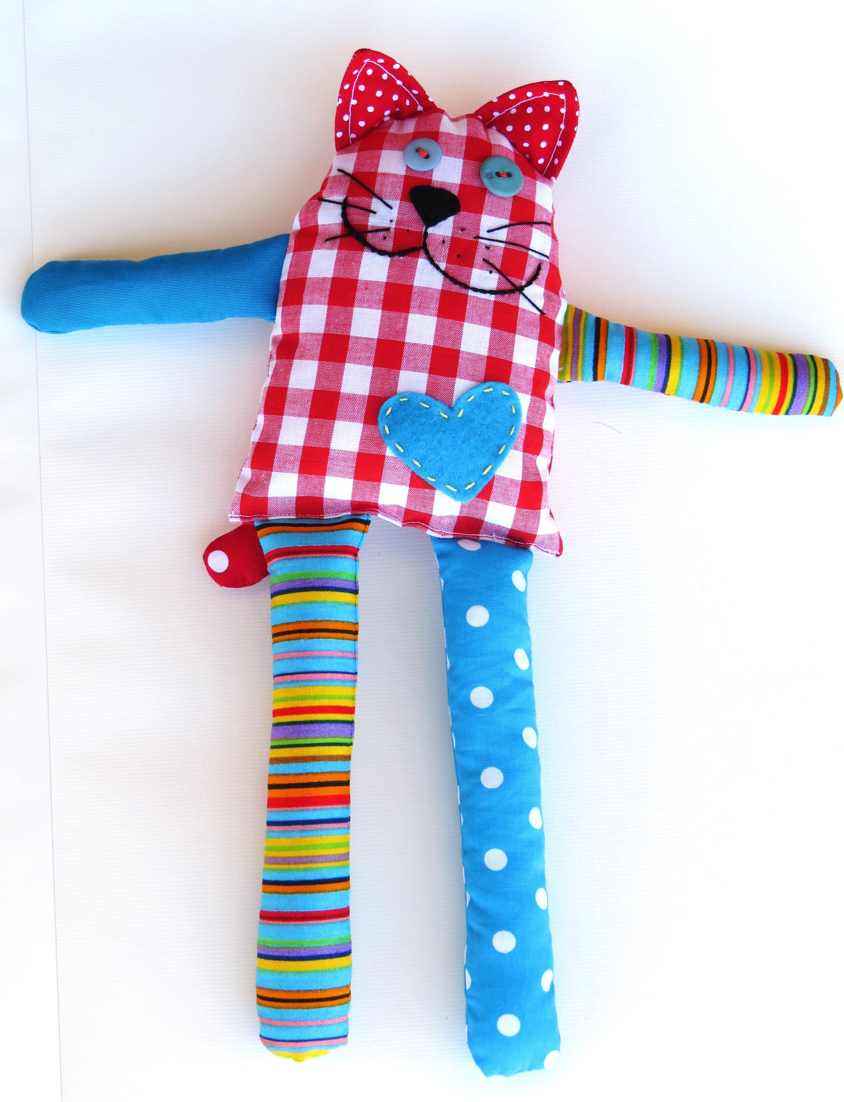 How To Sew Carefree Cat From Scraps Free Pattern