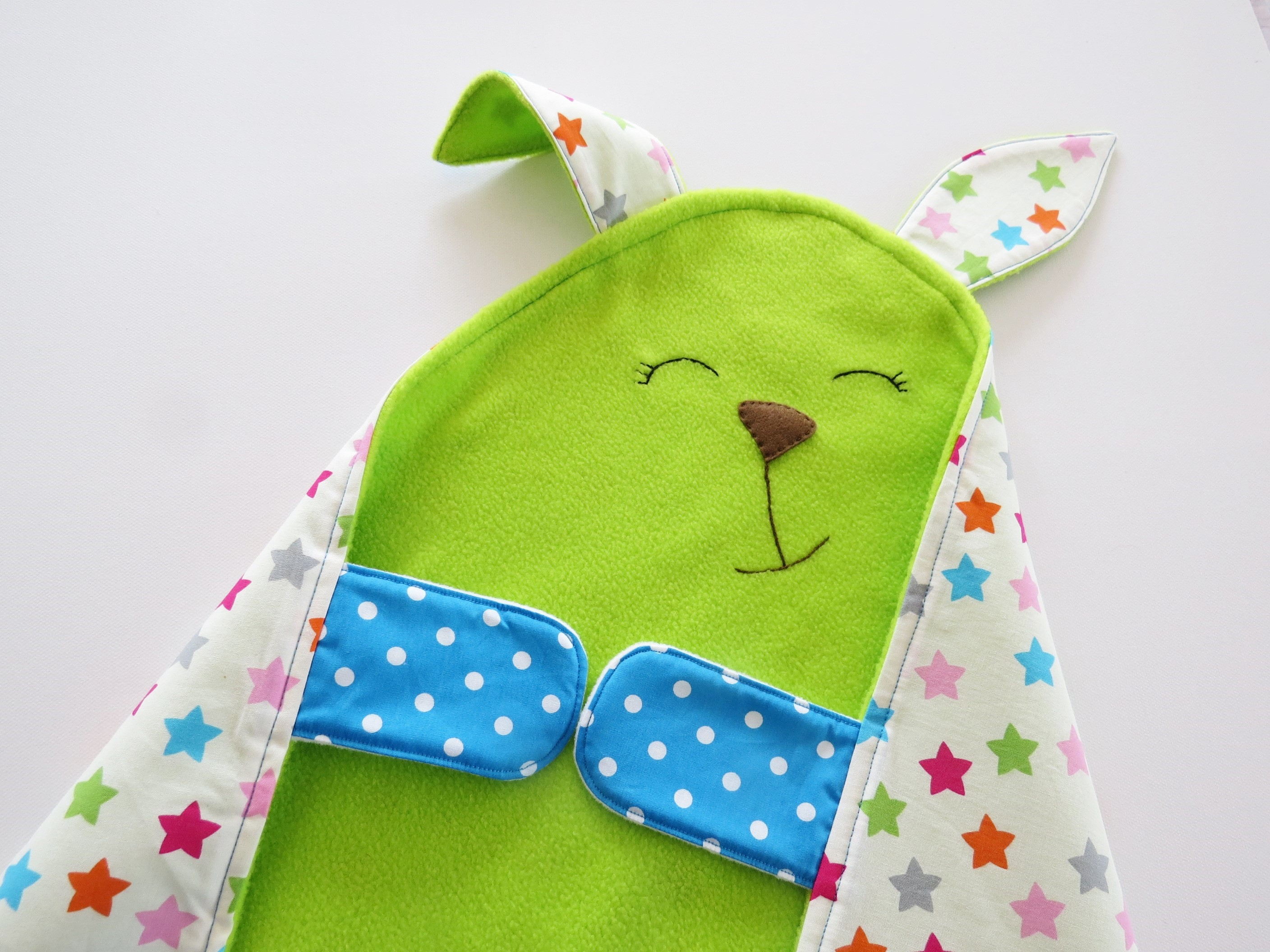 Cute And Colorful Baby Blanket And Toy All In One