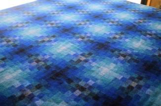 The pixel plaid wool coating
