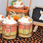 Halloween Candy Corn Cheesecake in a Jar.