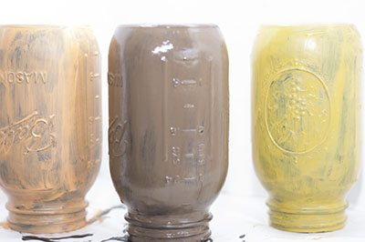 Painted-Jars How to Paint Mason Jars