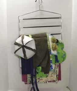 Filled Pants Hanger, Spring Organizing Secrets