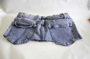 Back of Cut Off Jeans, Create New Looks from Old Jeans
