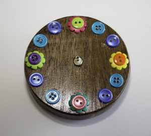 Clock with Button Face, Springtime Button Bonanza