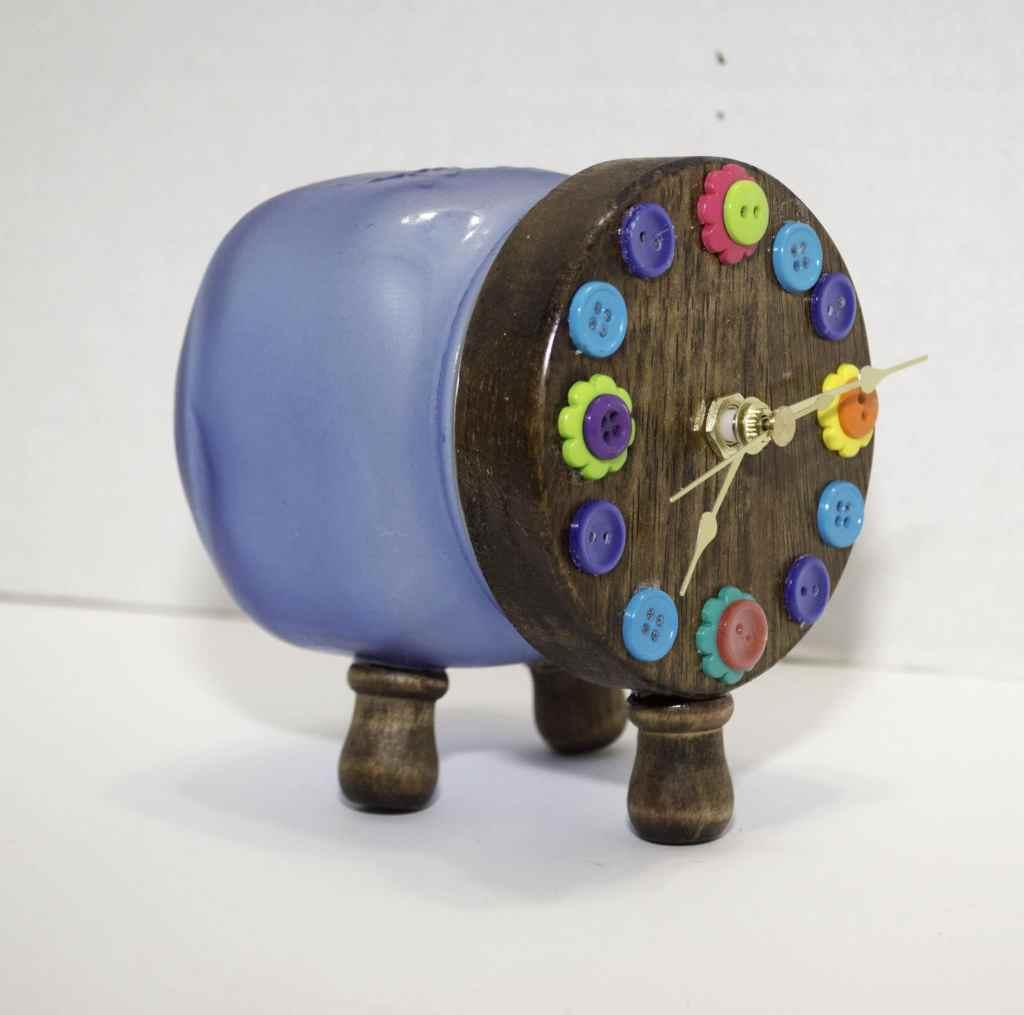 Completed-Clock-1024x1015 Springtime Button Bonanza