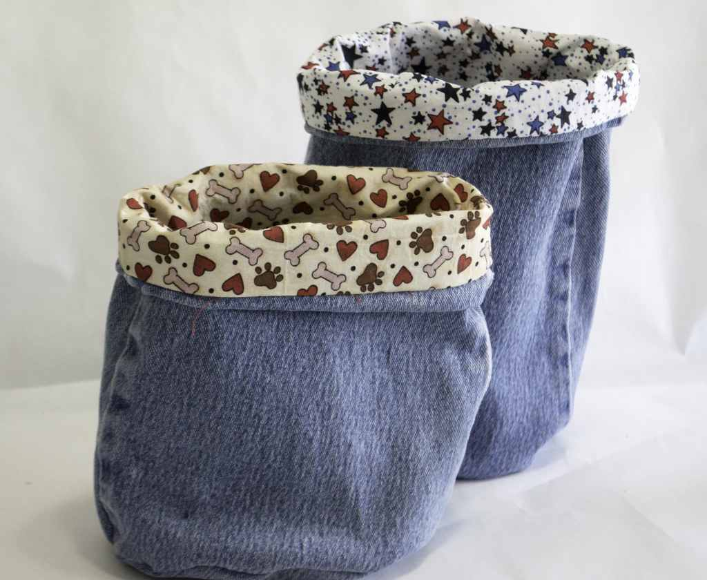 Blue Jean Buckets, Create New Looks from old Jeans