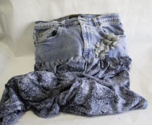 Jeans Skirt with Embellishment, Create New Looks with Old Jeans