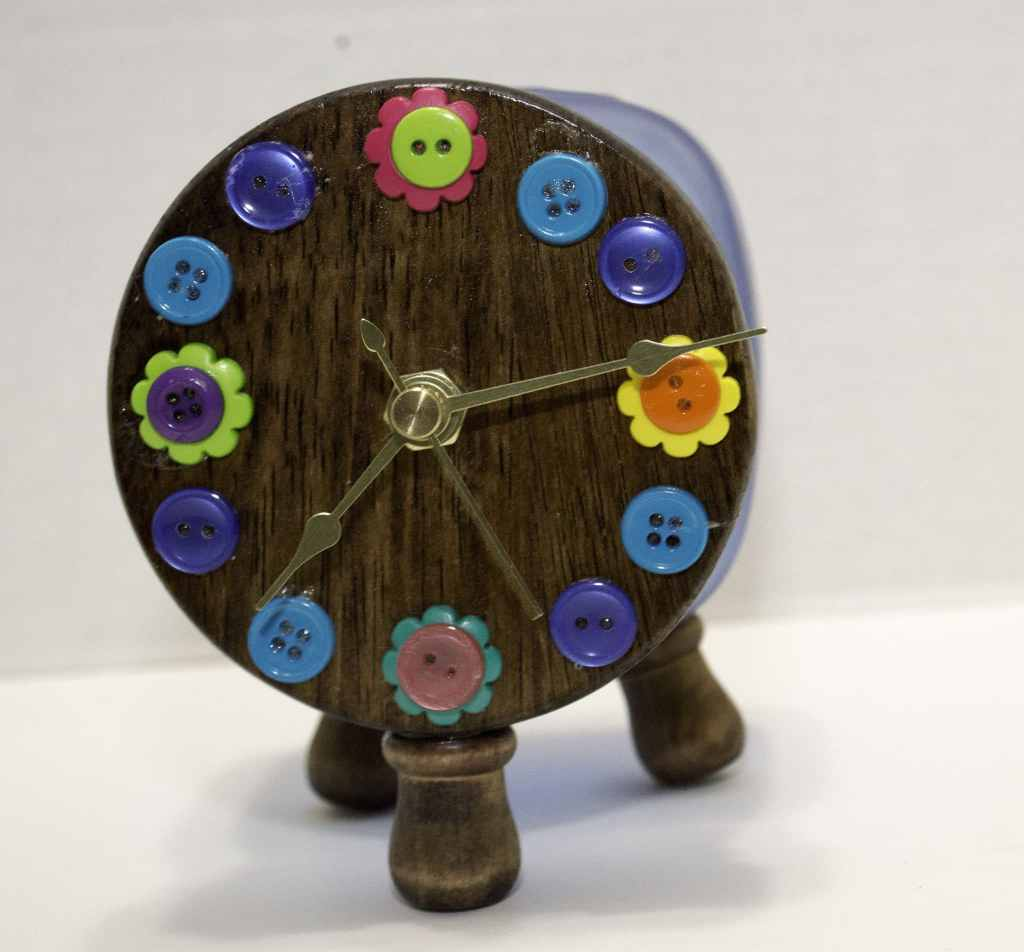 Mason-Jar-Clock-1024x952 Springtime Button Bonanza