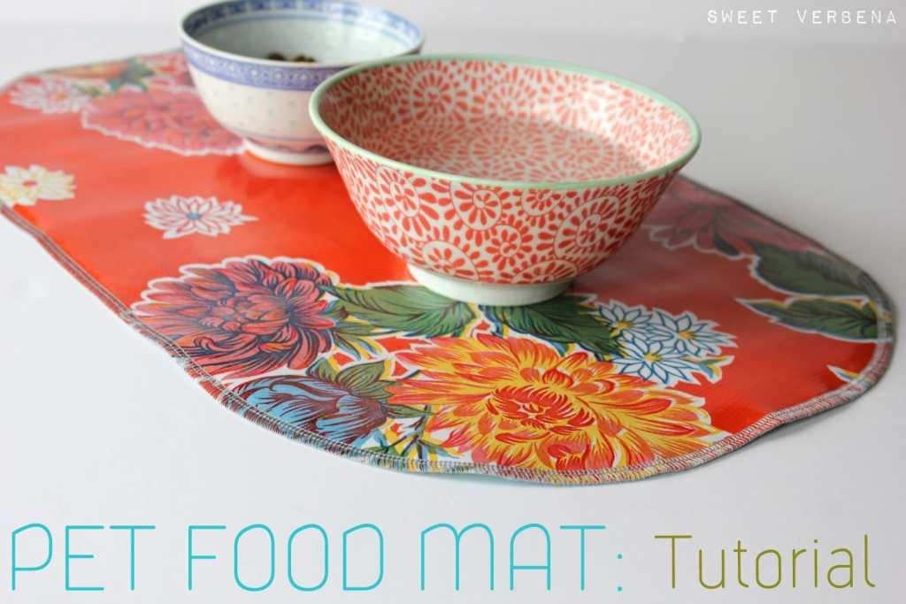 Pet Food Mat by Sweet Verbena, Pet Pattern Tutorials