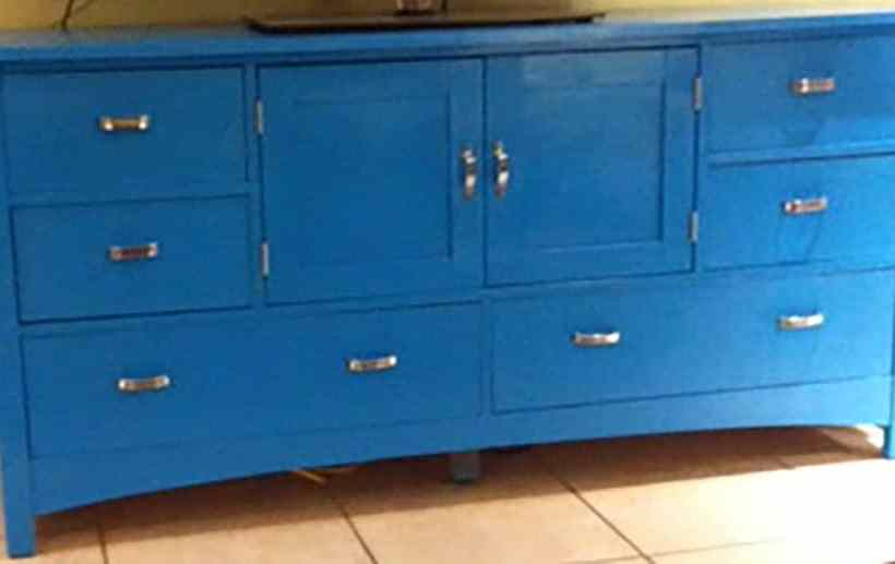 Finished Painted Cabinet, Update furniture with Paint