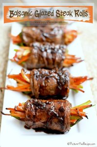 Balsamic Glazed Steak Rolls, July 4th Party