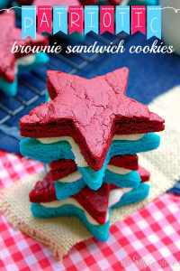 Brownie Cookies, July 4th Party