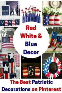 Red White and Blue Decor, July 4th party