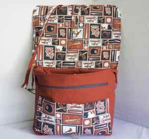 Cardinals Camera Bag with Lid Open, SWports Team DSLR Camera Bag