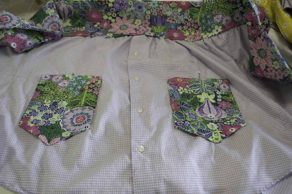 Apron with Pockets, Make an apron from a man's shirt