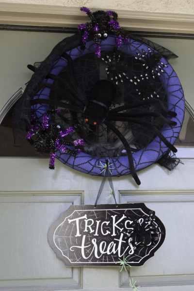 99 Cent Store Halloween Wreath