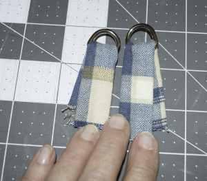 Tabs with D-Rings, Tartan Messenger Bag