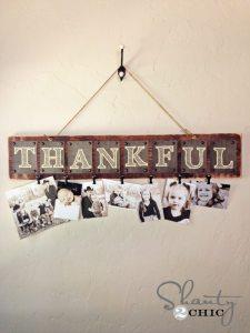 Thankful Photo Board, Thanksgiving around the web