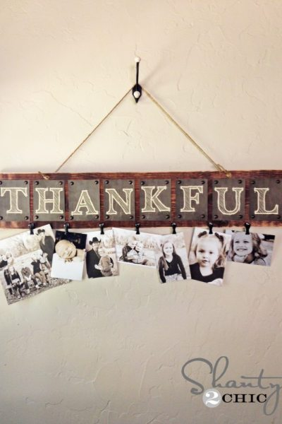 Thankful Photo Board, Thanksgiving around the web