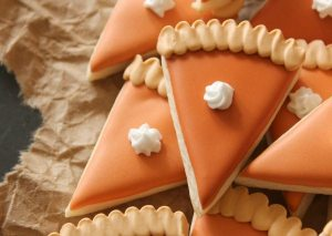 Mini Pumpkin Pie Slice Cookies, Thanksgiving around the web