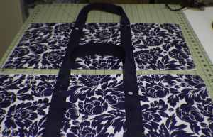 Add-the-Handles-300x193 Sew a Basic Tote Using Remnants