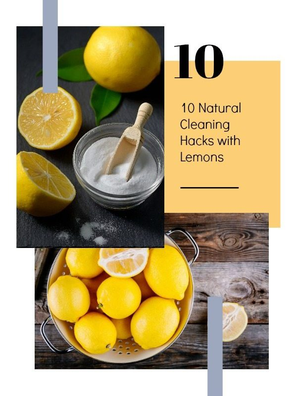 10 Natural Cleaning Hacks with Lemons