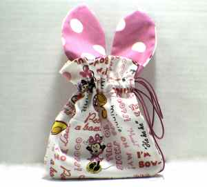 How to make a drawstring Easter bunny bag