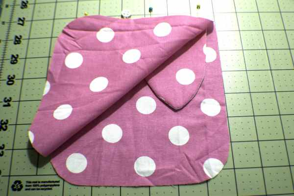 Lay-the-lining-piece-on-top-of-the-outer-piece-300x199 How to Sew a Drawstring Easter Bunny Bag