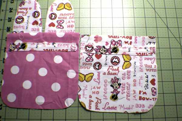 Sew-on-the-ribbon-Guides-300x199 How to Sew a Drawstring Easter Bunny Bag