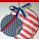 Patriotic Embroidery Hoop Art