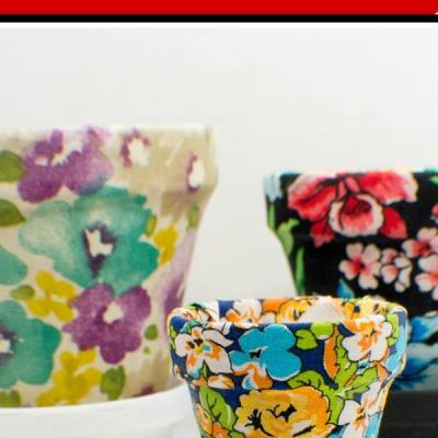 How to Make Fabric Covered Plant Pots