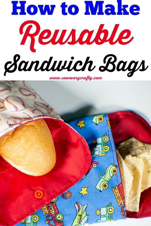 reusable- How to Make Reusable Sandwich and Snack Bags