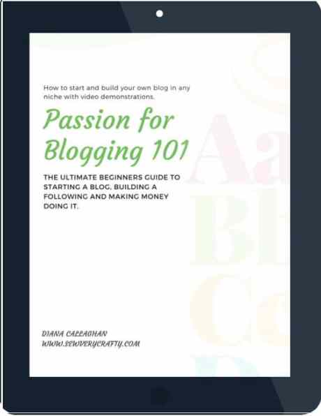 ebook-tablet-svc Passion For Blogging Landing Page