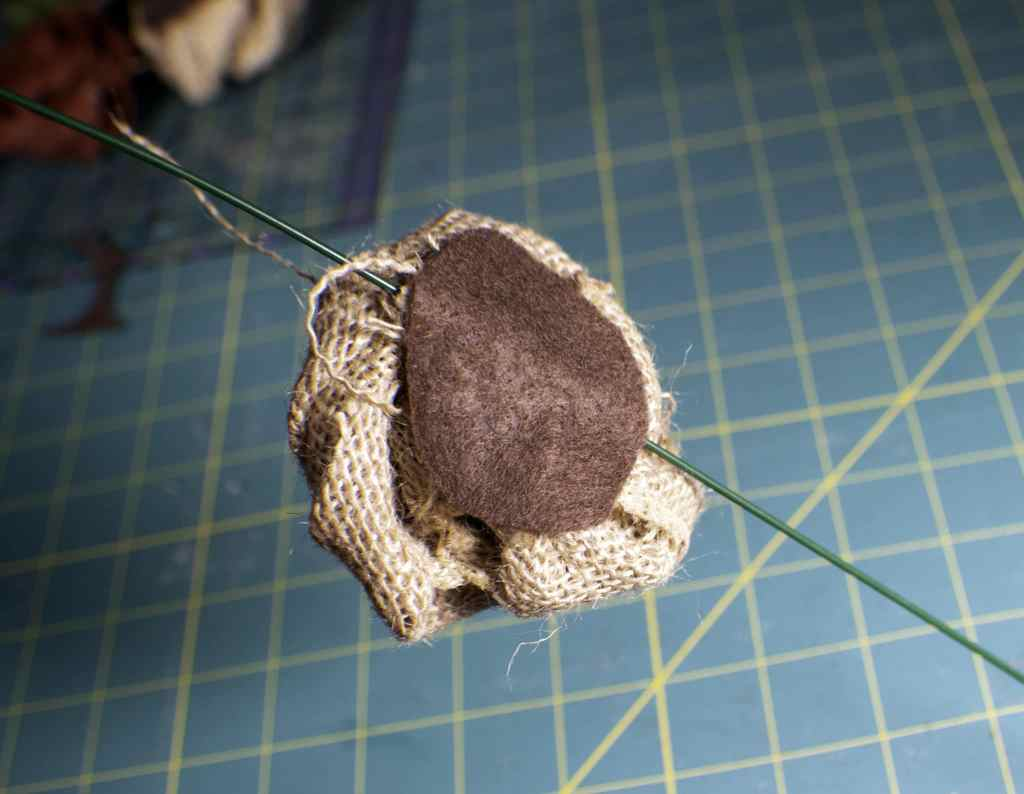 Add-the-floral-wire-1024x794 How to Make Burlap Flowers