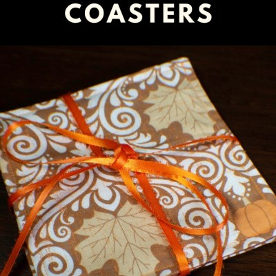 How to Make DIY Reversible Fabric Coasters